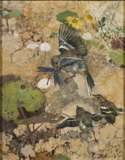 Chaffinches and Dragonflies | Bruno Liljefors | Oil Painting