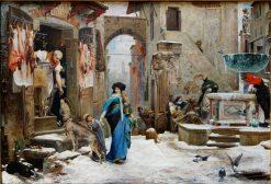 Le Loup dAgubbio | Luc-Olivier Merson | Oil Painting
