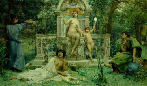 La Verite   Luc-Olivier Merson   Oil Painting