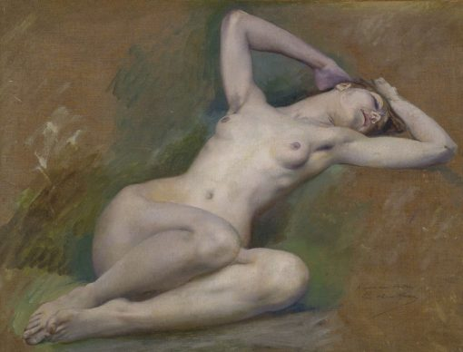 Study for the figure of Spring | Luc-Olivier Merson | Oil Painting