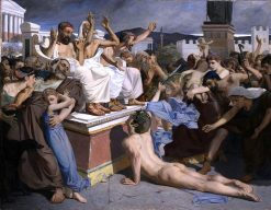 Pheidippides giving word of victory after the Battle of Marathon   Luc-Olivier Merson   Oil Painting