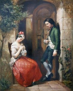 The Bashful Lover and Maiden Coy | Frank Stone | Oil Painting