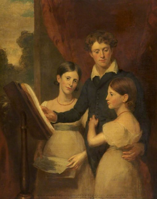 Mr Pelty and His Sisters   Frank Stone   Oil Painting