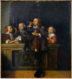 Soap Bubbles | Pieter Cornelisz van Slingeland | Oil Painting