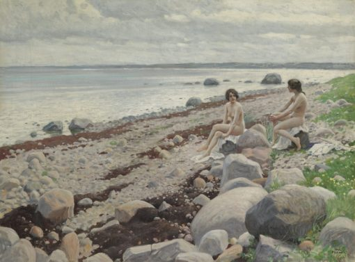 Bathers on a Beach | Paul-Gustave Fischer | Oil Painting
