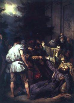 Martyrdom of Jozafat Kuncewicz in Vitebsk in 1623 | Jozef Simmler | Oil Painting