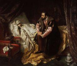 Death of Barbara Radziwill | Jozef Simmler | Oil Painting