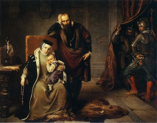 Catherine Jagiellon and her son Sigismund in Gripsholm prison | Jozef Simmler | Oil Painting