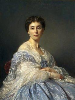 Portrait of Aleksandra Zatlerowa | Jozef Simmler | Oil Painting