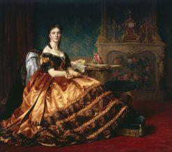 Portrait of Emilia W?odkowska | Jozef Simmler | Oil Painting