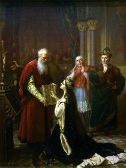 Queen Jadwigas Oath | Jozef Simmler | Oil Painting