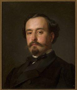 Portrait of Juliusz Kossak | Jozef Simmler | Oil Painting