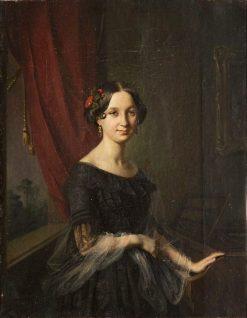 Portrait of Józefa Slugocka | Jozef Simmler | Oil Painting