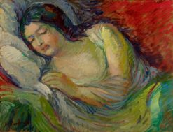 Young Woman Sleeping | Nicolas Tarkhoff | Oil Painting