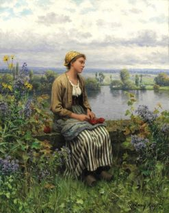 Normandy girl | Daniel Ridgway Knight | Oil Painting