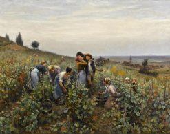 Grape Harvest | Daniel Ridgway Knight | Oil Painting