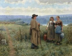 An Idle Moment | Daniel Ridgway Knight | Oil Painting