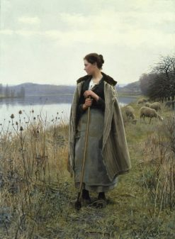 The Shepherdess of Rolleboise | Daniel Ridgway Knight | Oil Painting