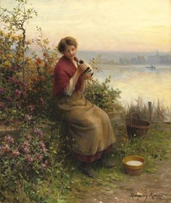 The New Puppy | Daniel Ridgway Knight | Oil Painting