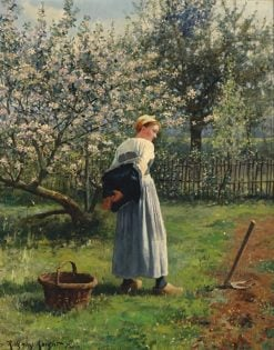 In the Orchard | Daniel Ridgway Knight | Oil Painting