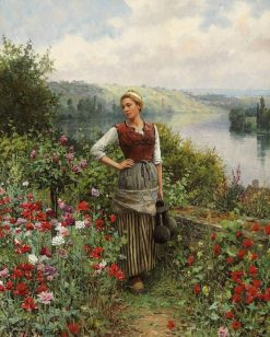On the Terrace at Rolleboise | Daniel Ridgway Knight | Oil Painting