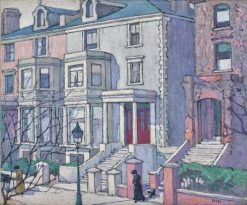 Houses in Sunlight | Robert Bevan | Oil Painting
