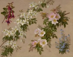 Wild roses and various other flowers and shrubs | Paul De Longpre | Oil Painting