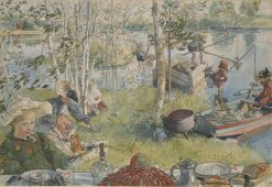 Crayfishing | Carl Larsson | Oil Painting