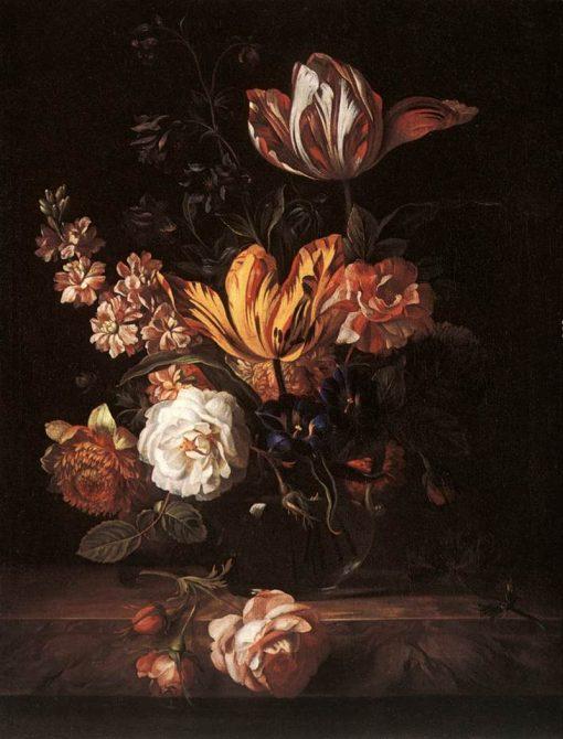 Flower Still-life | Jakob Bogdány | Oil Painting