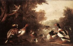 Landscape with Ducks | Jakob Bogdány | Oil Painting