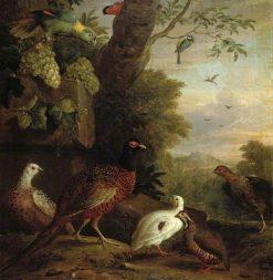 Birds in a Landscape   Jakob Bogdány   Oil Painting