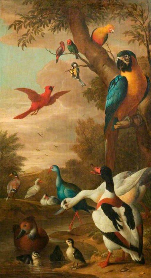 Farm Birds | Jakob Bogdány | Oil Painting