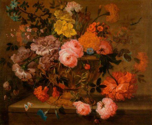 Flowers in a Vase   Jakob Bogdány   Oil Painting
