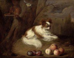 A Spaniel in a Landscape | Jakob Bogdány | Oil Painting