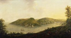 A View of Dartmouth Estuary   William Tomkins   Oil Painting