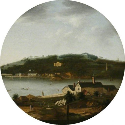 A View of Mount Edgcumbe from Cremyll   William Tomkins   Oil Painting