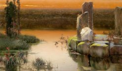 In the Pontine Marshes | Enrique Serra y Auque | Oil Painting