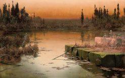 Dawn on the Pontine Marshes | Enrique Serra y Auque | Oil Painting