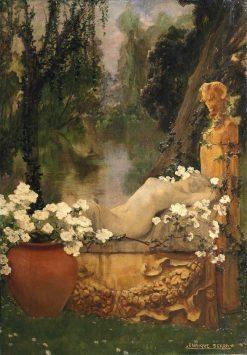 A classical garden | Enrique Serra y Auque | Oil Painting