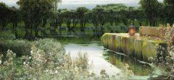 A Lagoon at Dusk | Enrique Serra y Auque | Oil Painting