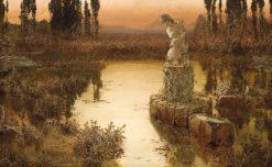 A Lakeside at Dusk | Enrique Serra y Auque | Oil Painting