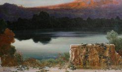 Lake scene at sunset | Enrique Serra y Auque | Oil Painting