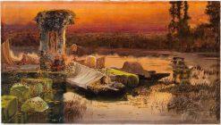 Pontine Marshes | Enrique Serra y Auque | Oil Painting