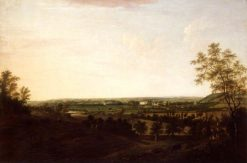 Distant View of Saltram | William Tomkins | Oil Painting