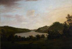 The River Plym and Saltram Wood | William Tomkins | Oil Painting