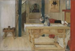 Sunday Rest | Carl Larsson | Oil Painting