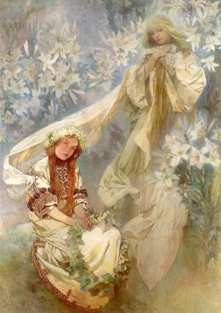 Madonna of the Lilies | Alfons Mucha | Oil Painting