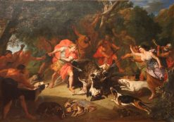 Meleager Kills the Calydonian Boar | Jacob van Schuppen | Oil Painting