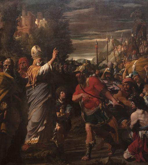 Melchizedek Blessing Abraham   Leonello Spada   Oil Painting