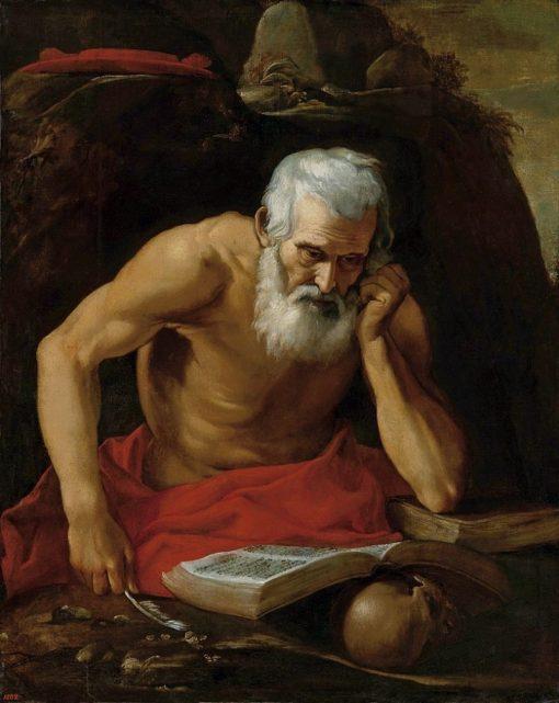 The Penitent St. Jerome   Leonello Spada   Oil Painting